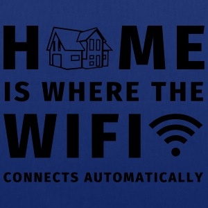 Home is where the WIFI connects automatically Tee shirts - Tote Bag