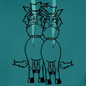 male couple female horses love mare stallion woman T-Shirts - Men's Premium Hoodie