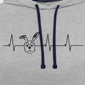 Heartbeat Hasenkopf T-Shirts - Contrast Colour Hoodie