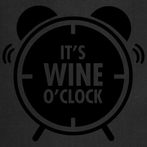 It\'s Wine O\'Clock Tee shirts - Tablier de cuisine