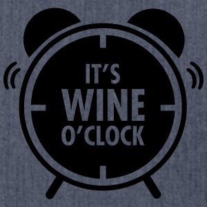 It\'s Wine O\'Clock T-shirts - Schoudertas van gerecycled materiaal