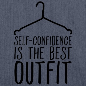 Self-Confidence Is The Best Outfit T-Shirts - Schultertasche aus Recycling-Material