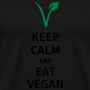 keep calm and eat vegan Mugs & Drinkware - Men's Premium T-Shirt