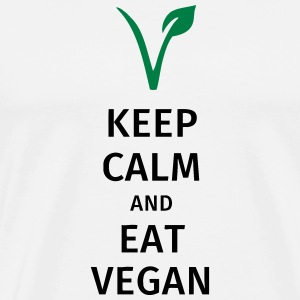 keep calm and eat vegan Bouteilles et Tasses - T-shirt Premium Homme