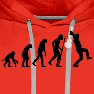 Evolution of rock def Tee shirts - Sweat-shirt à capuche Premium pour hommes