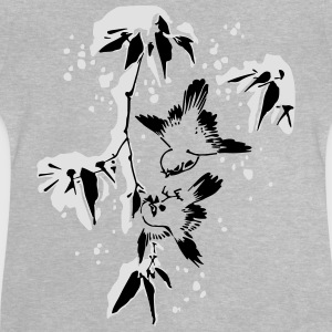 Birds in the Snow Camisetas - Camiseta bebé