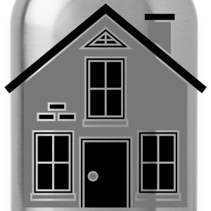 pretty little cottage house build eigenheim black  T-Shirts - Water Bottle