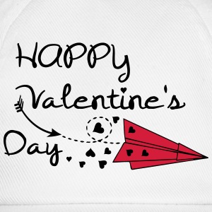 Happy valentine's day paper plane Mug - Baseball Cap