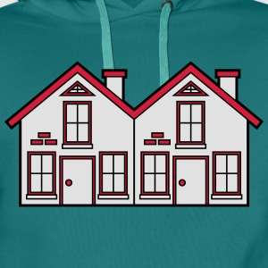 Semi-detached 2 houses neighborhood neighbors pret T-Shirts - Men's Premium Hoodie