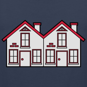 Semi-detached 2 houses neighborhood neighbors pret T-Shirts - Men's Premium Tank Top