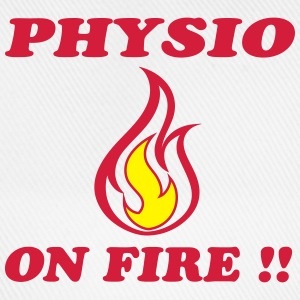 Physio on fire !! T-shirts - Basebollkeps
