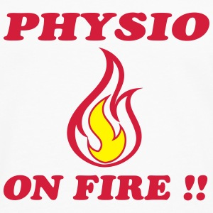 Physio on fire !! T-shirts - Långärmad premium-T-shirt herr