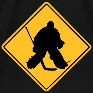 Hockey Road Sign Pullover & Hoodies - Männer Premium T-Shirt
