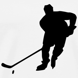 Hockey Player Langarmshirts - Männer Premium T-Shirt