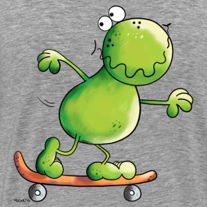 Frog on skateboard Long sleeve shirts - Men's Premium T-Shirt