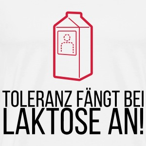 Tolerance begins with lactose! Tops - Men's Premium T-Shirt
