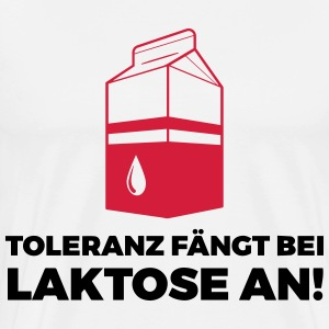 Tolerance begins with lactose! Hoodies & Sweatshirts - Men's Premium T-Shirt