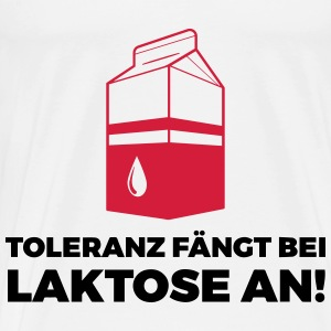 Tolerance begins with lactose! Bags & Backpacks - Men's Premium T-Shirt