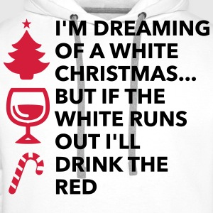 I m dreaming of a white Christmas Polo Shirts - Men's Premium Hoodie