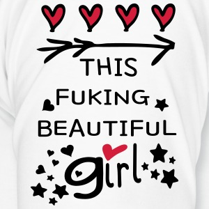 Love this fucking beautiful girl funny Mug - Men's Premium T-Shirt