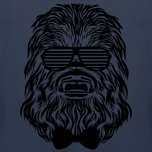 Diva blue Chewbacca hipster T-Shirts - Men's Premium Tank Top