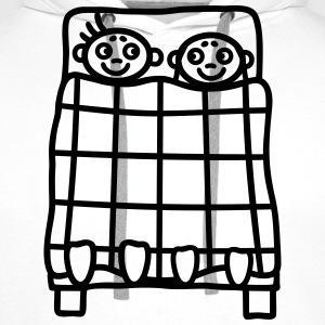 Couple bed T-Shirts - Men's Premium Hoodie
