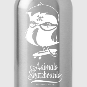 Animals on Skateboards/Chickadee T-Shirts - Trinkflasche