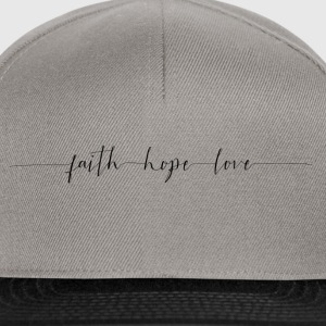 Faith Hope Love Pullover & Hoodies - Snapback Cap