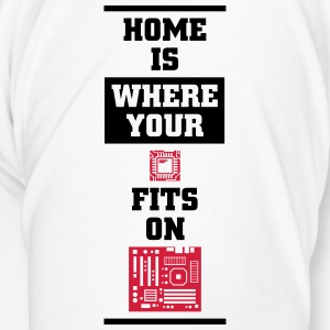 Home is where your CPU on the motherboard fits Mugs & Drinkware - Men's Premium T-Shirt