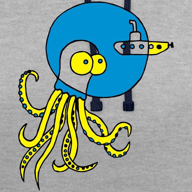 Tintenfisch trifft Uboot, Meer, tauchen, Boot T-Shirts