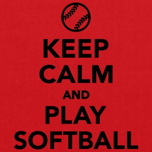 Keep calm and play Softball T-Shirts - Stoffbeutel