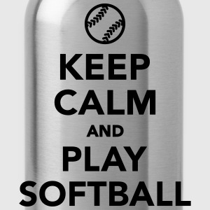 Keep calm and play Softball T-Shirts - Trinkflasche