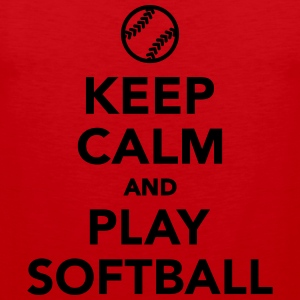 Keep calm and play Softball T-Shirts - Männer Premium Tank Top