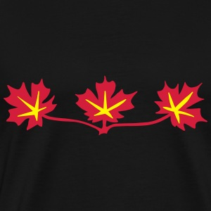Red Maple Leaves Canadian Standard Symbol Hoodies & Sweatshirts - Men's Premium T-Shirt