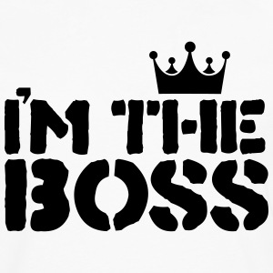 im the boss T-shirts - Mannen Premium shirt met lange mouwen