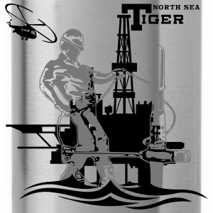 Oil Rig Oil field North Sea Tiger Aberdeen - Water Bottle