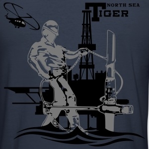 Oil Rig Oil field North Sea Tiger Aberdeen - Men's Slim Fit T-Shirt