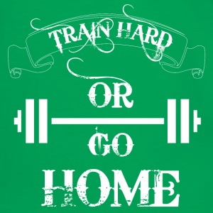 Vert Train hard or go home Sacs et sacs à dos - T-shirt contraste Homme
