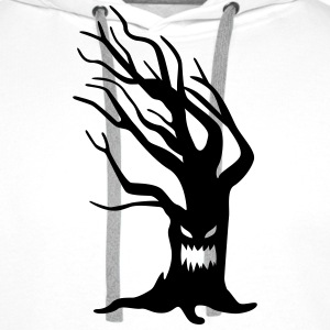 scary tree T-Shirts - Men's Premium Hoodie