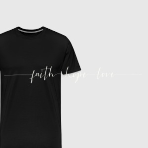 Faith - Hope - Peace - Männer Premium T-Shirt