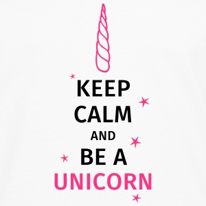 keep calm and be a unicorn Tee shirts - T-shirt manches longues Premium Homme