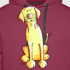 Golden Labrador Retriever Long Sleeve Shirts - Men's Premium Hoodie