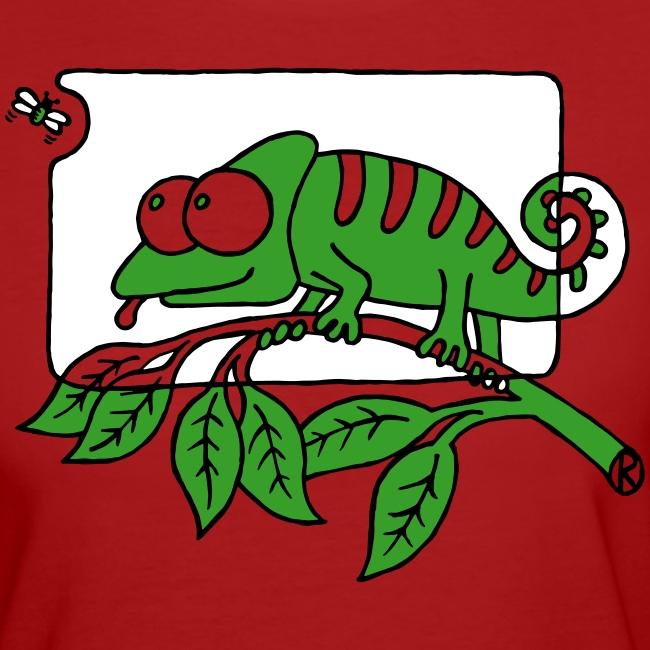 Chamaeleon und Fliege, Farbe, Urwald, Tier, lustig T-Shirts