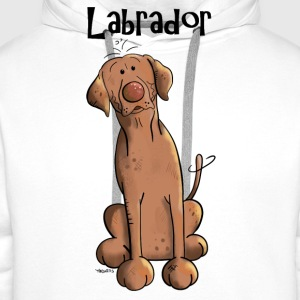 Funny Brown Labrador Retriever   Aprons - Men's Premium Hoodie