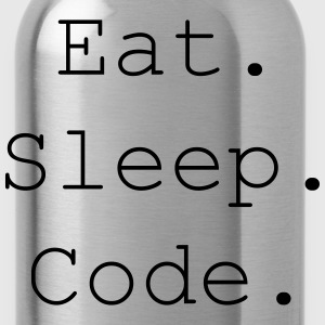 Eat. Sleep. Code. - Trinkflasche