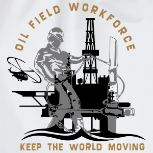 Oil Rig Oil Field North Sea Keep The World Movng T-Shirts - Drawstring Bag