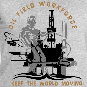 Oil Rig Oil Field North Sea Keep The World Movng T-Shirts - Men's Sweatshirt by Stanley & Stella