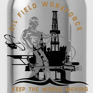 Oil Rig Oil Field North Sea Keep The World Movng T-Shirts - Water Bottle
