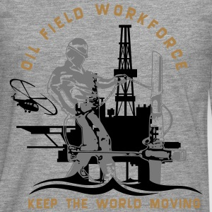 Oil Rig Oil Field North Sea Keep The World Movng T-Shirts - Men's Premium Longsleeve Shirt