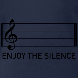 enjoy the silence Notenschlüssel Ruhe Musik Stille T-Shirts - Baby Bio-Kurzarm-Body